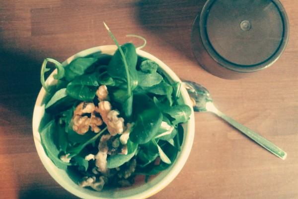 Feldsalat und Rucola