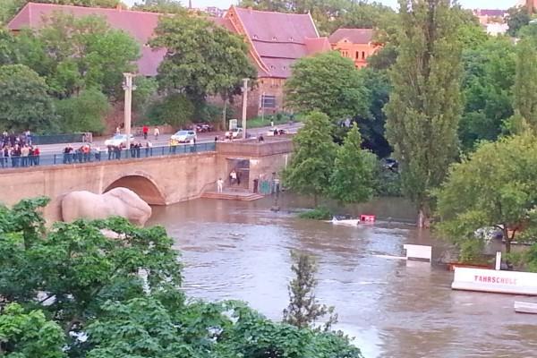 Saale Hochwasser